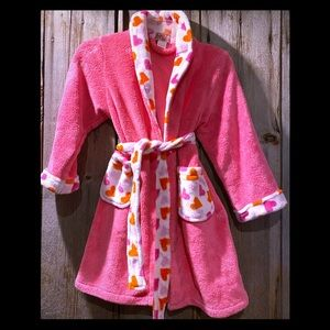 ❤️🧡💗 Girl's pink robe with heart detail Size M